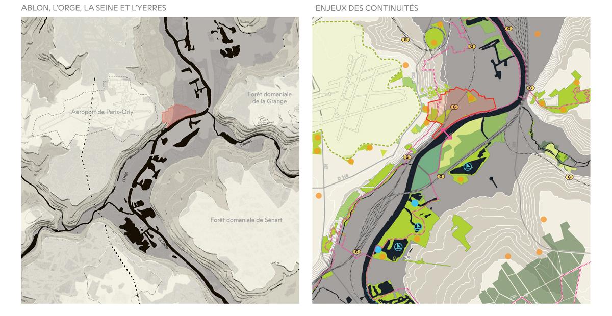 Des pistes à la Seine ; Ablon-sur-Seine ; FORR - PAYSAGE   URBANISME ; FORR paysagiste