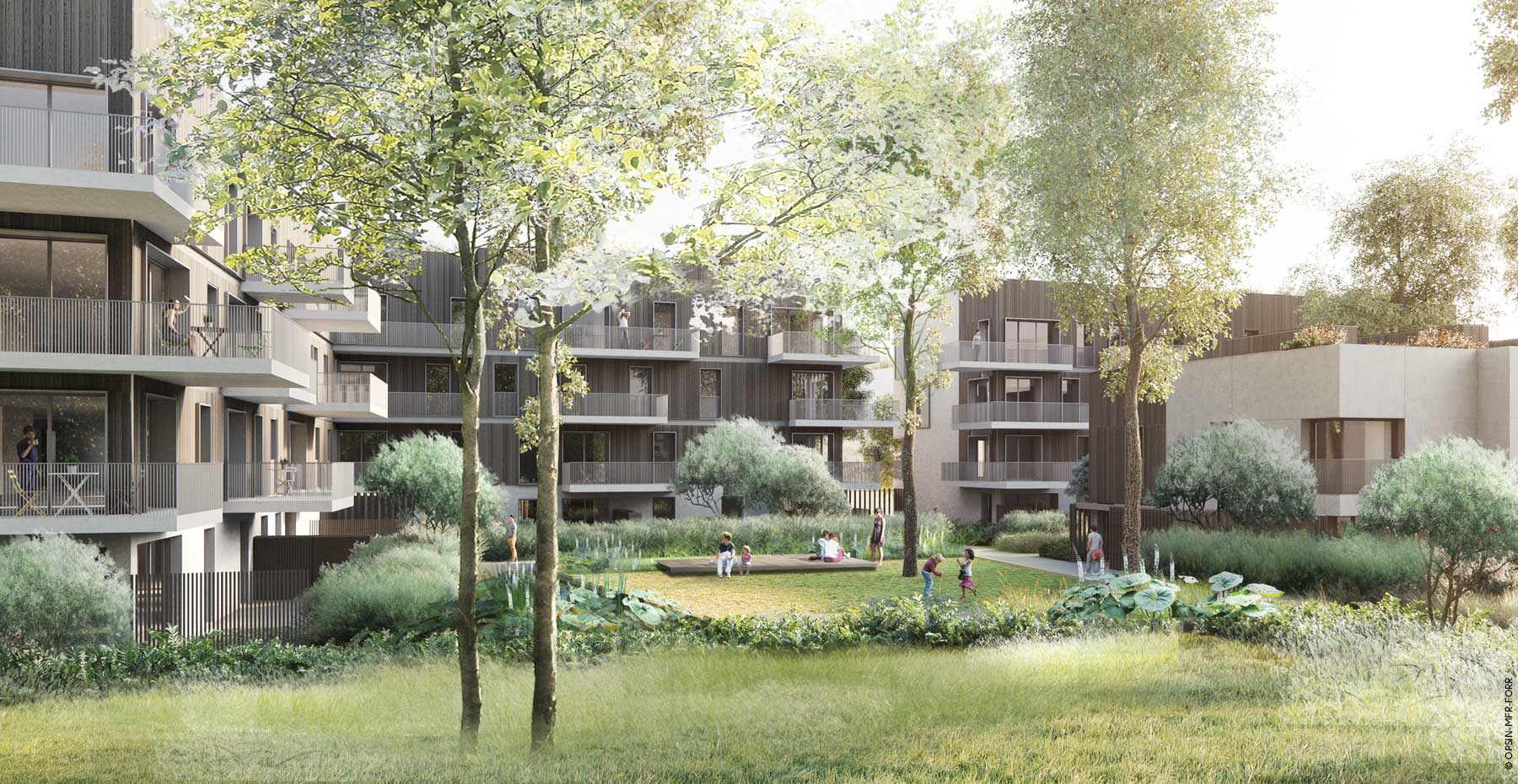 La clairière ; Nantes ; FORR - PAYSAGE | URBANISME ; FORR paysagiste