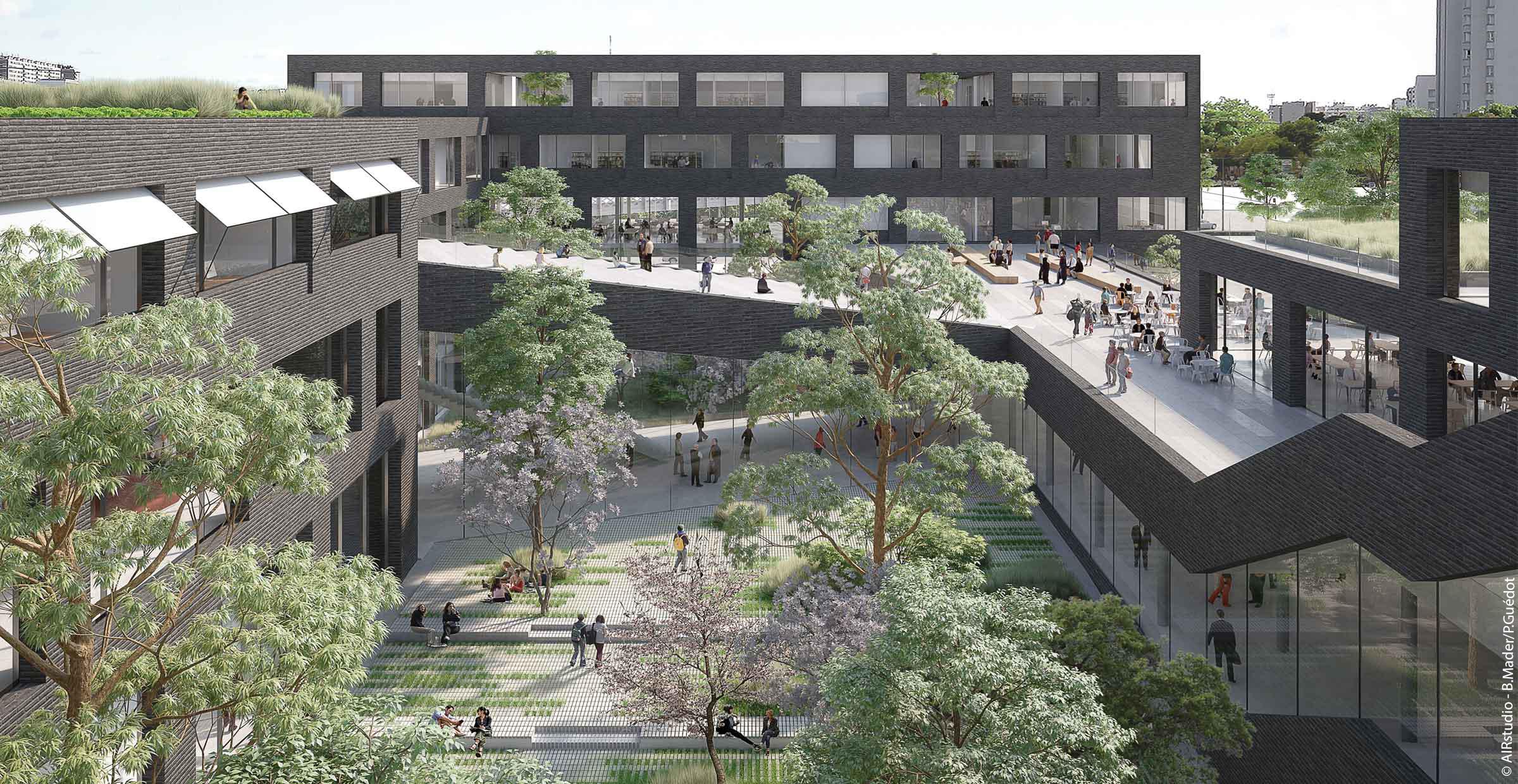 Campus de Condorcet ; Paris ; FORR - PAYSAGE | URBANISME ; FORR paysagiste