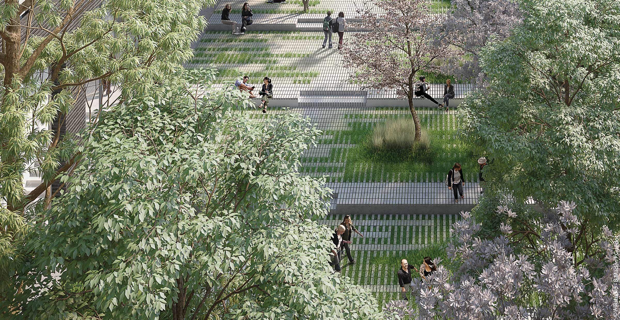 Campus de Condorcet ; Paris ; FORR - PAYSAGE   URBANISME ; FORR paysagiste