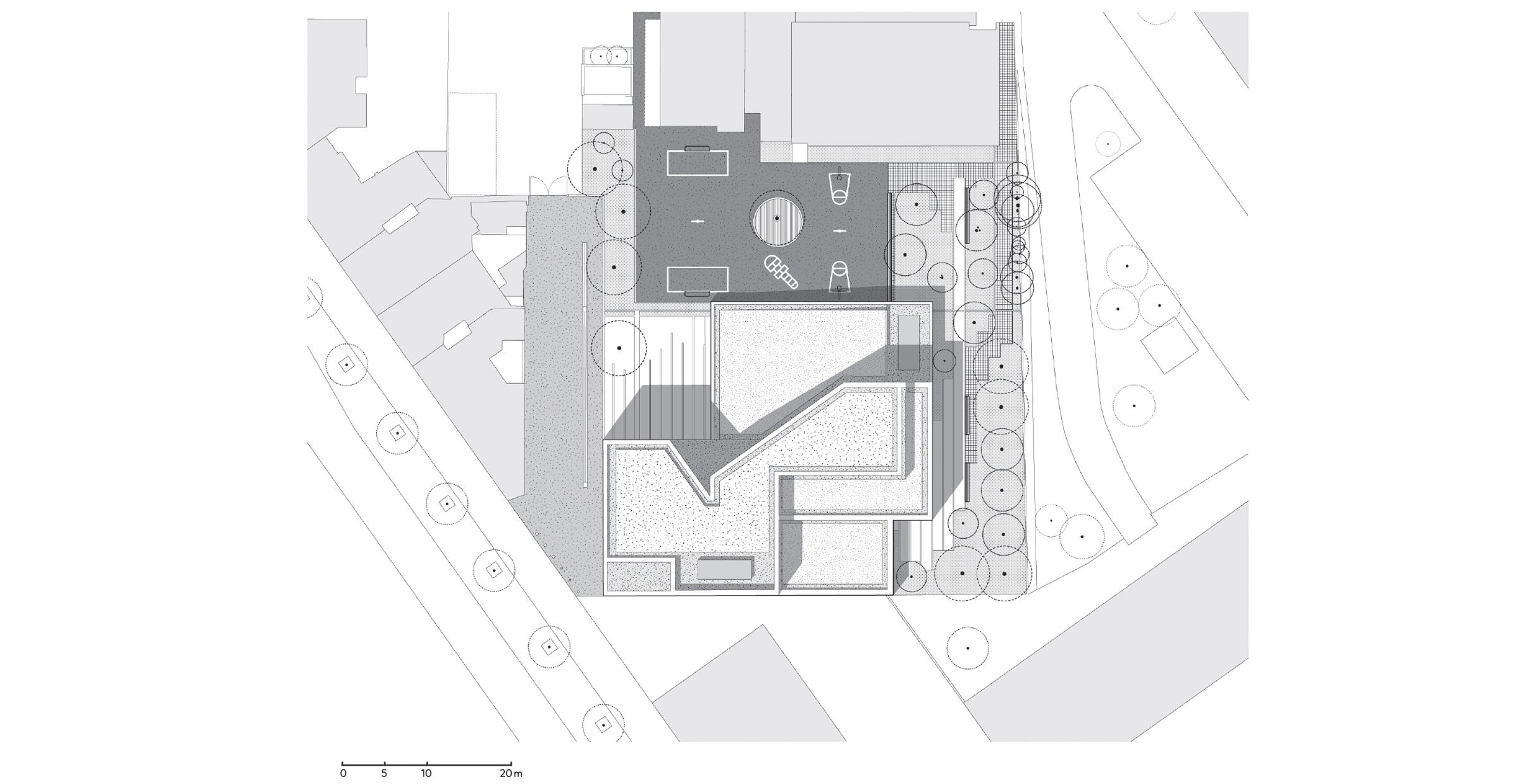 Conservatoire + Cour Oasis ; FORR - PAYSAGE | URBANISME ; FORR paysagiste