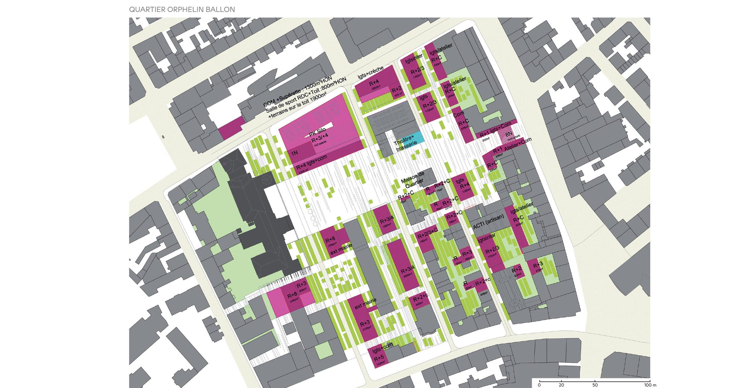 Mulhouse grand centre ; FORR - PAYSAGE | URBANISME ; FORR paysagiste