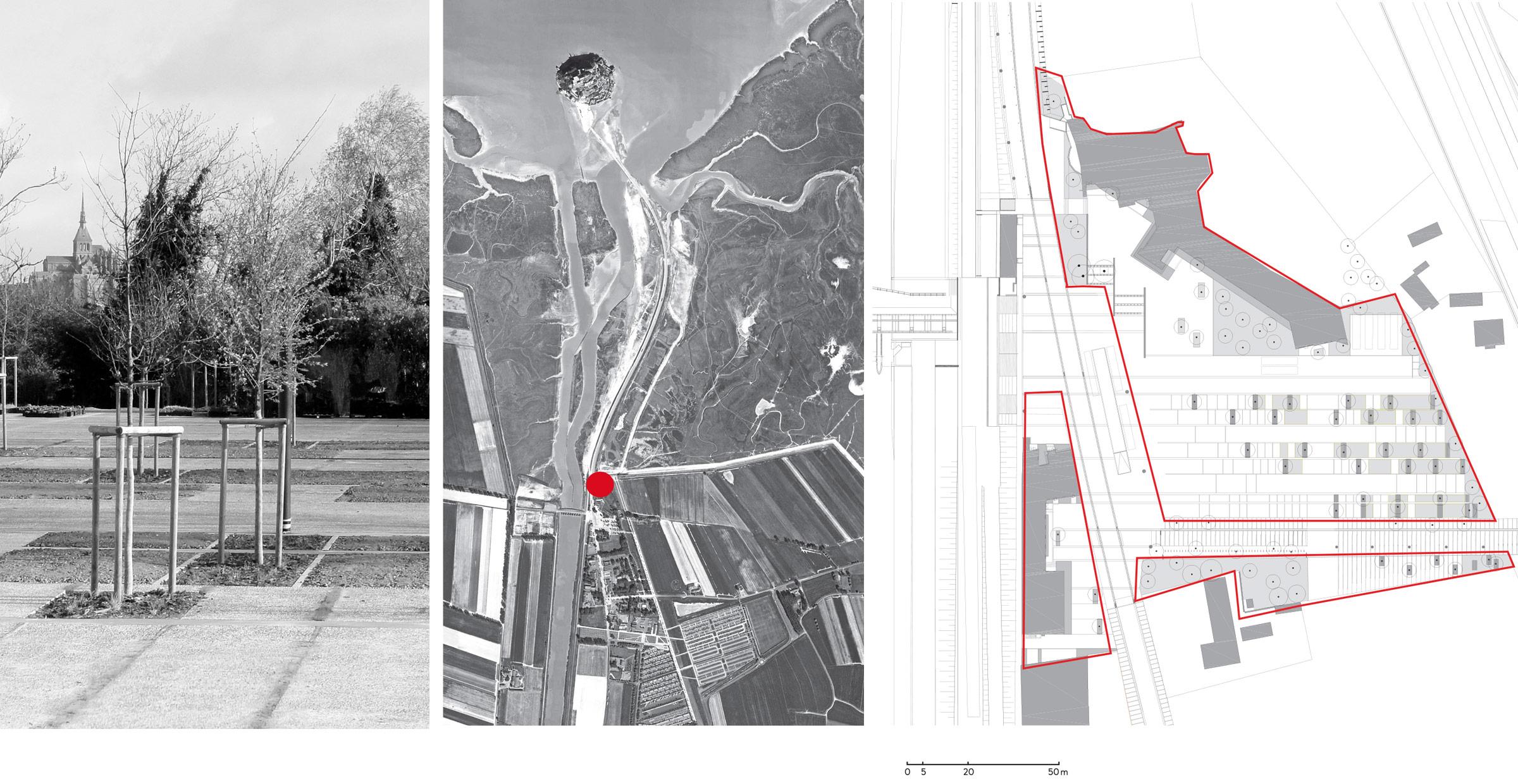 Transitions vers le Mont ; Mont-Saint-Michel ; FORR - PAYSAGE | URBANISME ; FORR paysagiste