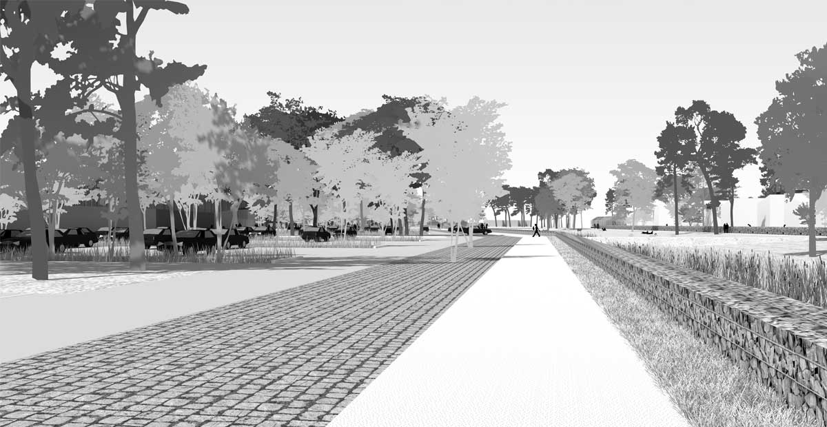 Bourg lopin bocage urbain ; Vire ; FORR - PAYSAGE | URBANISME ; FORR paysagiste